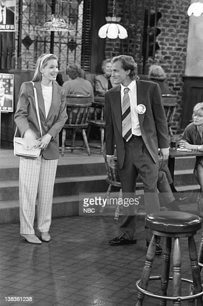 CHEERS Woody Gets an Election Episode 21 Air Date Pictured Jackie Swanson as Kelly Boyd Woody Harrelson as Woody Boyd