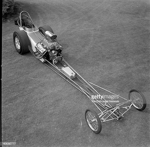 Woody Gilmore designed Dragster chassis with independent front suspension The front end is the outstanding feature of the car and was fabricated from...