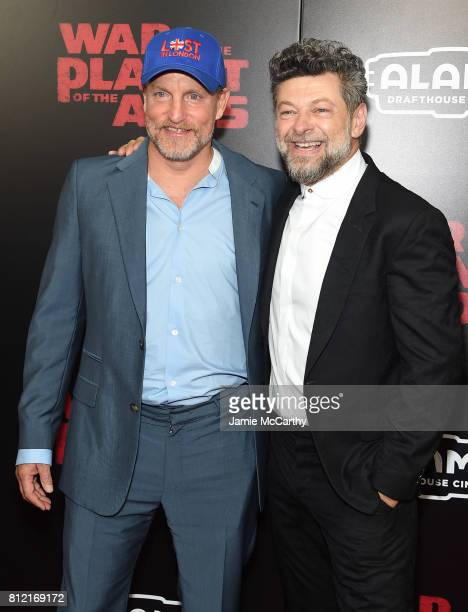 "Woody Harrelson and Andy Serkis attend ""War for the Planet Of The Apes"" premiere at SVA Theater on July 10, 2017 in New York City."