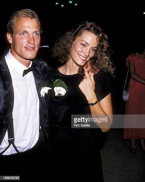 Woody Harrelson and date at the Museum of Broadcasting Tribute to Aaron Spelling After Party, Four Seasons Hotel, Beverly Hills.