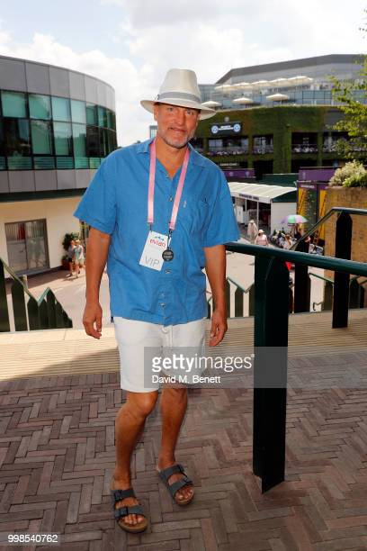 Woody Harrelson attends the Evian Live Young Suite at The Championship at Wimbledon on July 14 2018 in London England