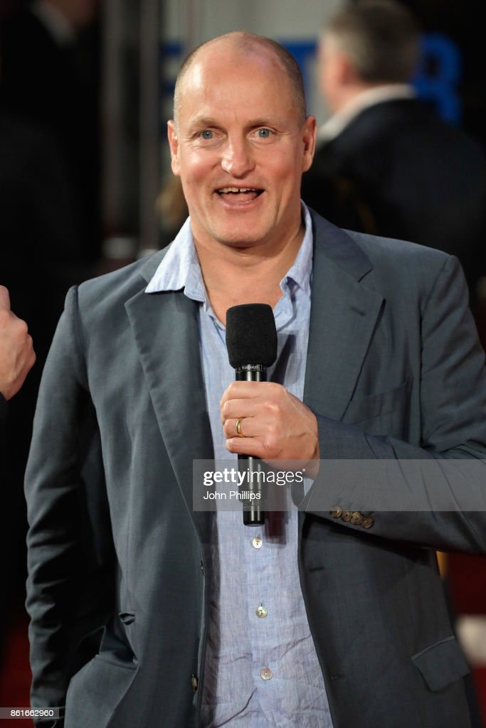 Woody Harrelson attends the UK Premiere of 'Three Billboards Outside Ebbing, Missouri' at the closing night gala of the 61st BFI London Film Festival on October 15, 2017 in London, England.