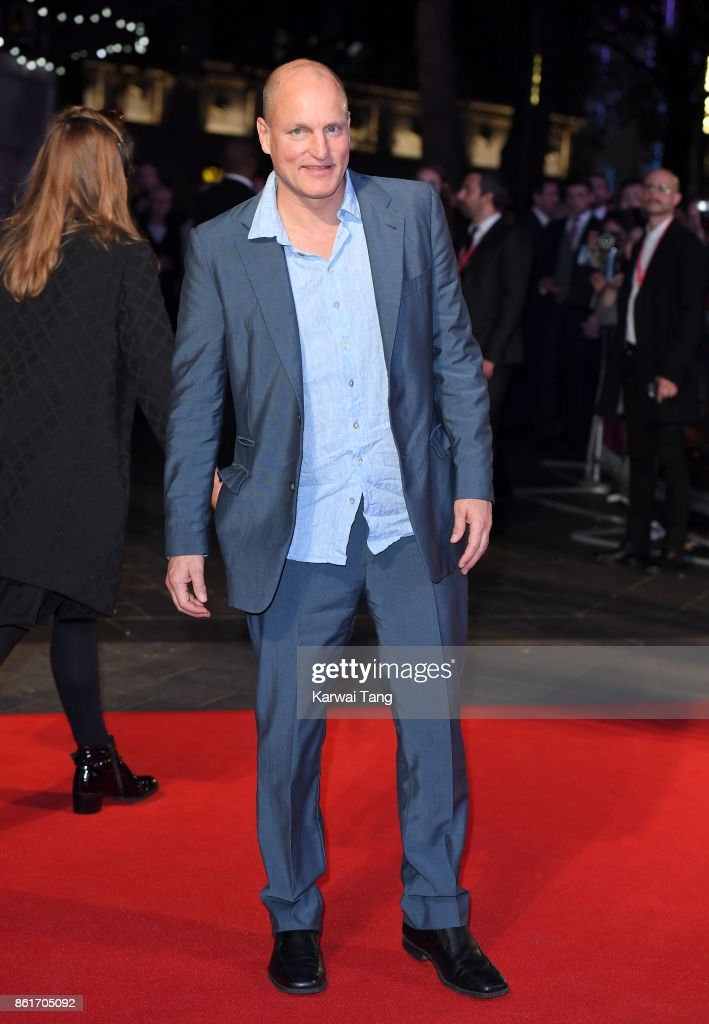 Woody Harrelson attends the UK Premiere of 'Three Billboards Outside Ebbing, Missouri' during the closing night gala of the 61st BFI London Film Festival at the Odeon Leicester Square on October 15, 2017 in London, England.