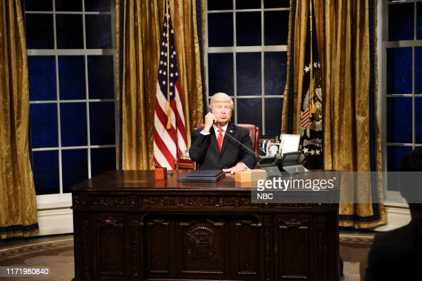 LIVE Woody Harrelson Episode 1768 Pictured Alec Baldwin as Donald Trump during the Impeachment Cold Open on Saturday September 28 2019