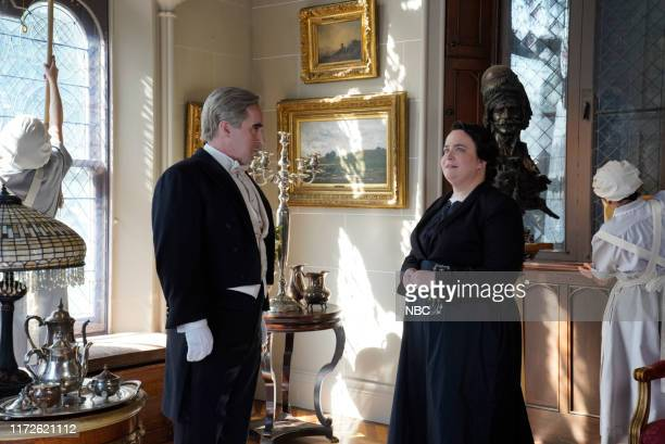 LIVE Woody Harrelson Episode 1768 Pictured Beck Bennett and Aidy Bryant during the Downton Abbey Trailer sketch on Saturday September 28 2019