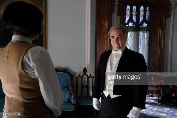 LIVE Woody Harrelson Episode 1768 Pictured Beck Bennett during the Downton Abbey Trailer sketch on Saturday September 28 2019
