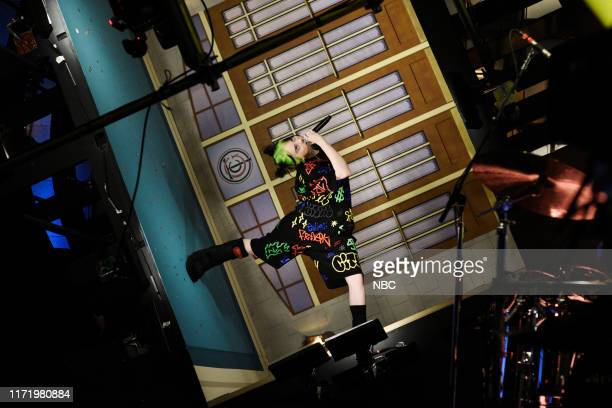 LIVE Woody Harrelson Episode 1768 Pictured Musical guest Billie Eilish performs on Saturday September 28 2019