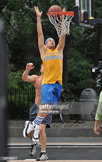 Woody Harrelson filming on location for Friends With Benefits on the streets of Manhattan on July 28 2010 in New York City