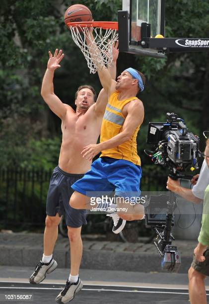 Woody Harrelson filming on location for 'Friends With Benefits' on the streets of Manhattan on July 28 2010 in New York City