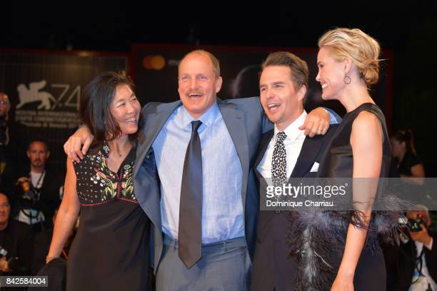 Woody Harrelson Laura Louie Sam Rockwell and Leslie Bibb walk the red carpet ahead of the 'Three Billboards Outside Ebbing Missouri' screening during...