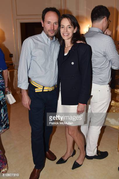 Woody Heller and Beth Gordon attend Katrina and Don Peebles Host NY Mission Society Summer Cocktails at Private Residence on July 7 2017 in...