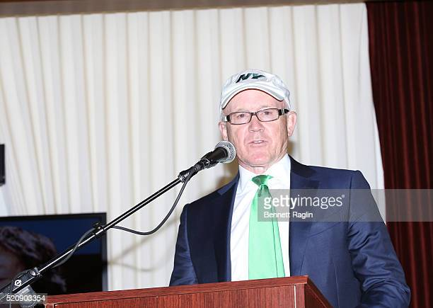 Woody Johnson CEO of the Jets attends the AEG Live announcement of Paul McCarthy's concert at Met Life Stadium on April 13 2016 in New York City