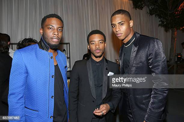 Woody McClain Algee Smith and Keith Powers attend the after party for BET's 'The New Edition Story' on January 23 2017 in Los Angeles California