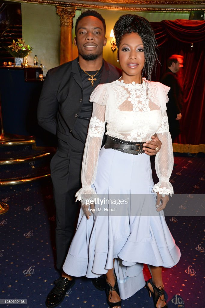 Woody McClain (L) and Gabrielle Dennis attend a special screening of 'The Bobby Brown Story' at Cafe de Paris on September 10, 2018 in London, England.