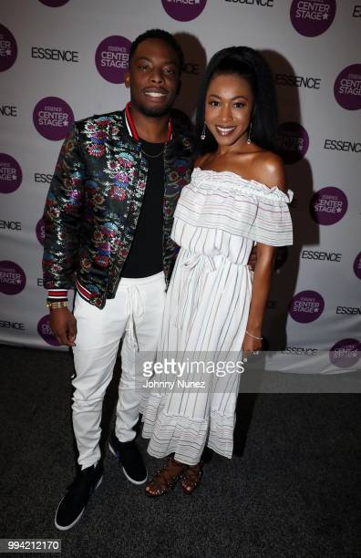 Woody McClain and Gabrielle Dennis attend the 2018 Essence Festival Day 3 on July 8 2018 in New Orleans Louisiana