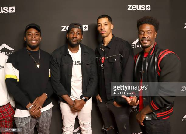 Woody McClain DeStorm Power Melvin Gregg and Juhahn Jones attend the ZEUS New Series Premiere Party X CIROC Black Raspberry on October 19 2018 in...