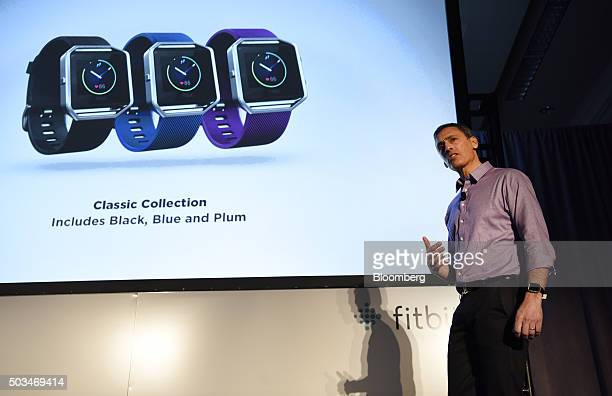 Woody Scal chief revenue officer of Fitbit Inc speaks during an event at the 2016 Consumer Electronics Show in Las Vegas Nevada US on Tuesday Jan 5...