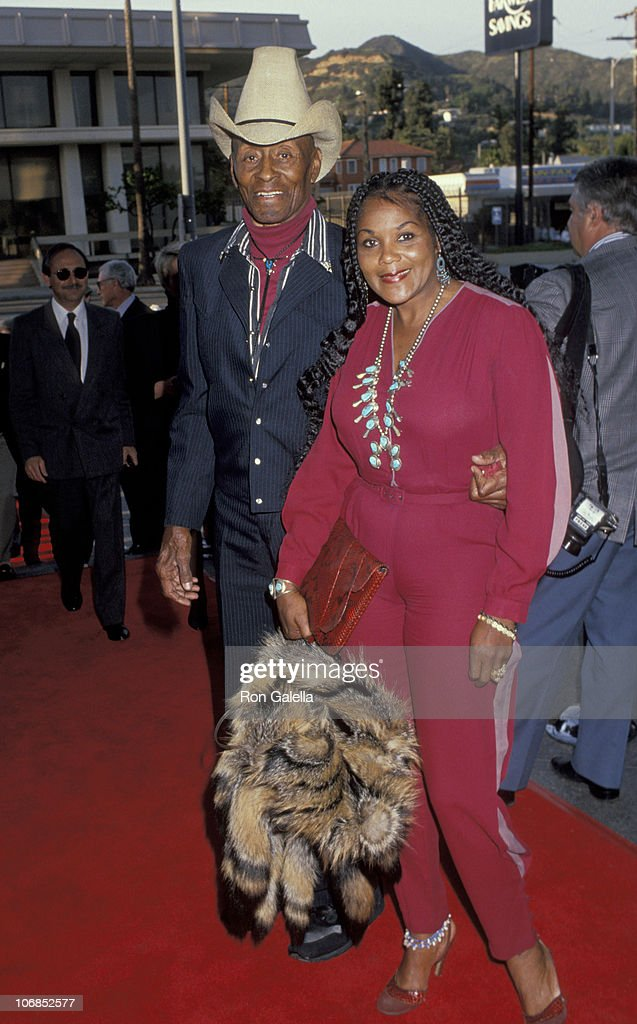 Woody Strode And Wife Tina During Premiere Of Restored