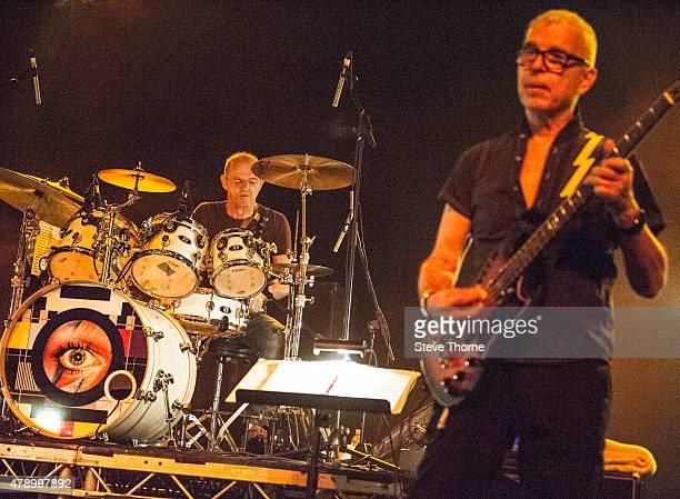 Woody Woodmansey and Tony Visconti perform at O2 Academy Birmingham on June 29, 2015 in Birmingham, United Kingdom