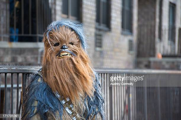 CONTENT] Wookie from Star Wars on street in midtown Manhattan New York City