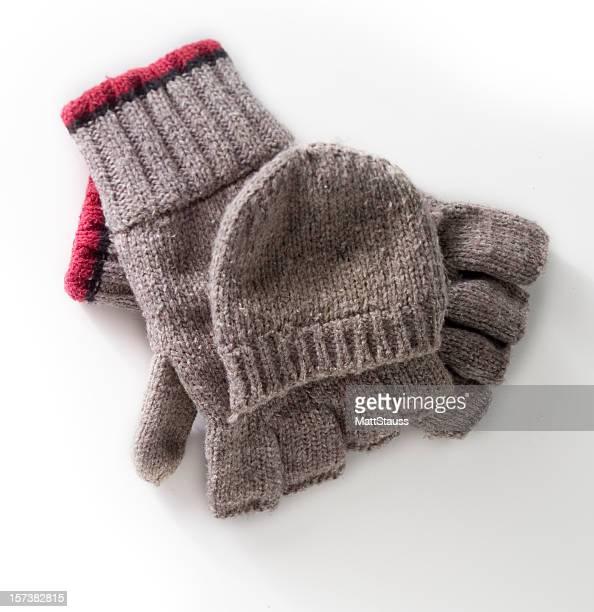 ウール手袋、ホワイト - 指なし手袋 ストックフォトと画像