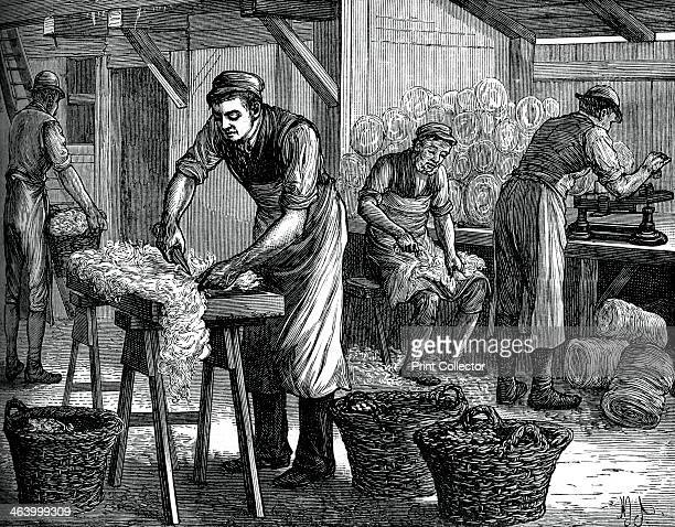 Wool sorters, c1880. A print from Great Industries of Great Britain, Volume I, published by Cassell Petter and Galpin, .