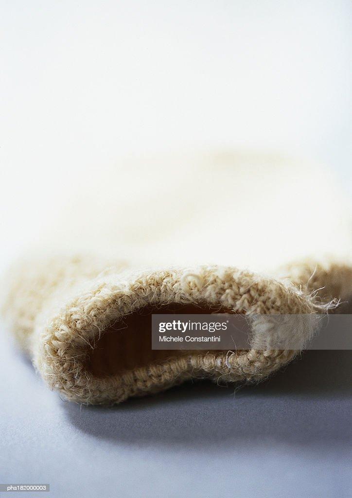 Woolen glove, close-up : Stockfoto