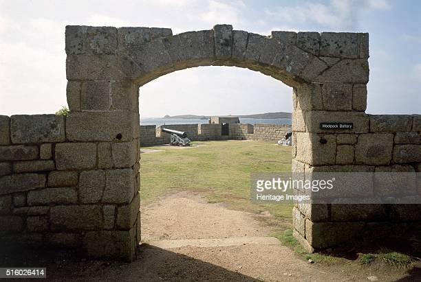 Woolpack Battery, Garrison Walls, Hugh Town, St Mary's, Isles of Scilly, c2000s. View through the entrance arch showing a cannon. The Garrison Walls...