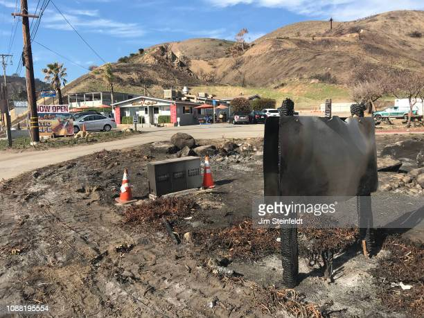 Woolsey fire creates burned out landscape and desolation in Corral Canyon Park near Malibu Seafood along the Pacific Coast Highway in Malibu...