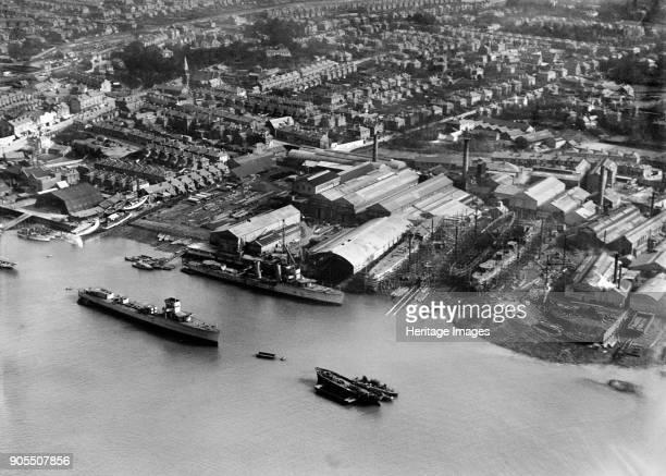 Woolston Shipbuilding and Engineering Works Southampton Hampshire 1928 Artist Aerofilms