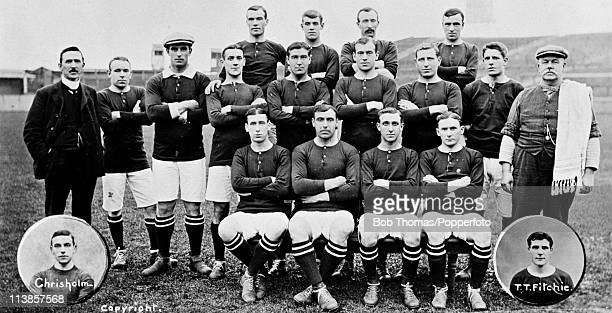 Woolwich Arsenal Football Squad and Officials prior to the 190809 season at Plumstead in London circa September 1908 Back row Dick Greenaway RJ...