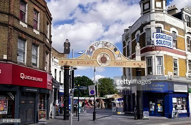 woolwich market, london - woolwich stock photos and pictures
