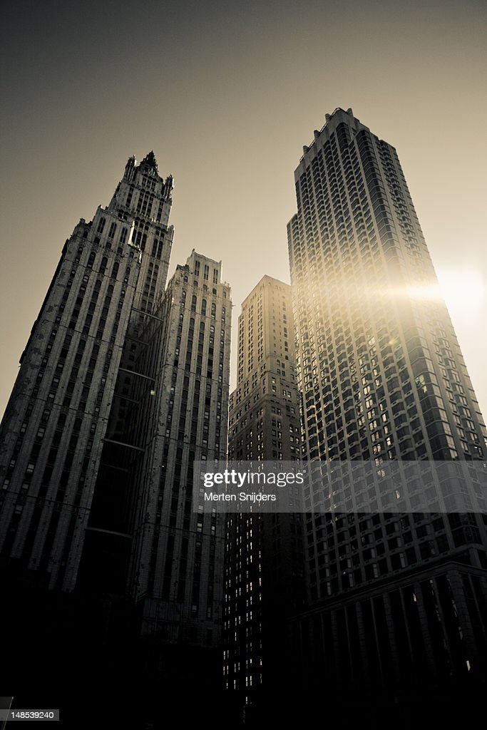 Woolworth Building and neighbouring skyscrapers on Broadway, Church Street. : Stockfoto