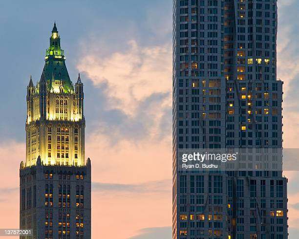 Woolworth building and New York