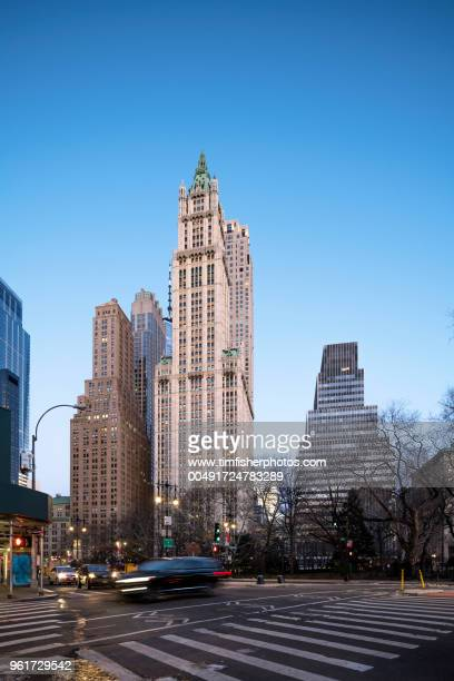Woolworth Building New York In Early Morning Sunshine