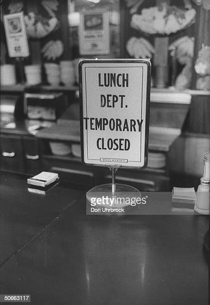 Woolworth store lunch counter closed down rather than serve African Americans