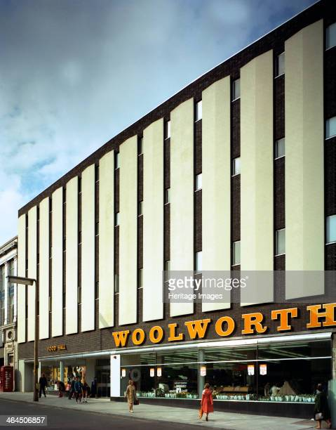 Woolworths Barnsley store South Yorkshire 1971 The Barnsley branch of FW Woolworths showing an early 1970s design which was typical of the time The...