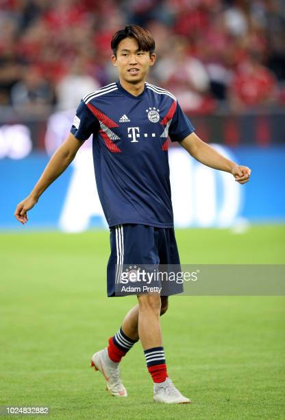 Wooyeong Jeong of Muenchen looks on before the Friendly Match between FC Bayern Muenchen and Chicago Fire at Allianz Arena on August 28 2018 in...
