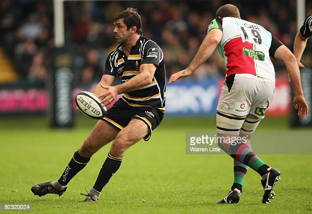 Worcester Captain, Pat Sanderson in action during the Guinness Premiership match between Worcester Warriors and Harlequins at Sixways Stadium on...