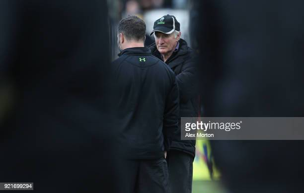 Worcester coach Alan Solomons prior to the Aviva Premiership match between Worcester Warriors and Gloucester Rugby at Sixways Stadium on February 17...