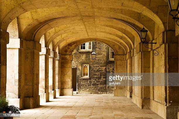 worcester college, university of oxford - cloister stock pictures, royalty-free photos & images