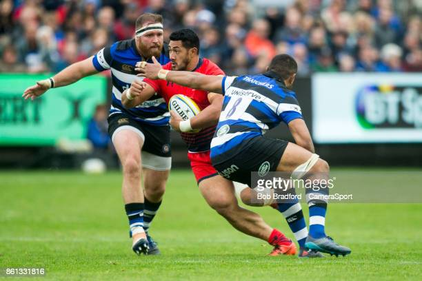 Worcester Warriors' Alafoti Fa'osiliva in action during the European Rugby Champions Cup match between Bath Rugby and Benetton Rugby at Recreation...