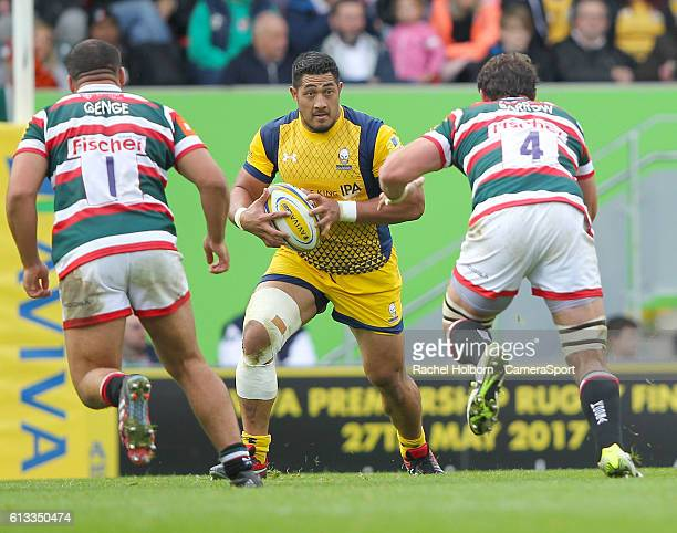 Worcester Warriors' Alafoti Fa'osiliva in action during todays match during the Aviva Premiership match between Leicester Tigers and Worcester...