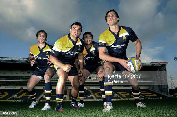 Worcester Warriors Argentina Internationals Leonardo Senatore Agustin Creevy Mariano Galarza and Ignacio Mieres pose for a picture at Sixways Stadium...