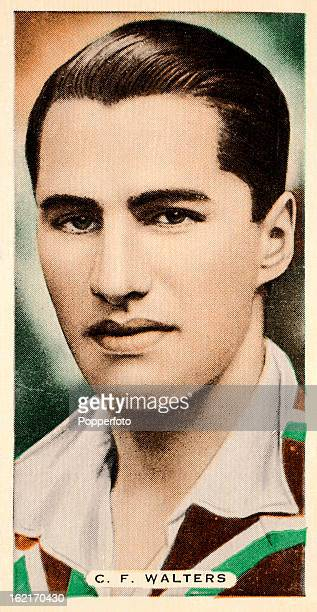 Worcestershire and England cricketer Cyril Walters featured on a vintage cigarette card published circa 1935