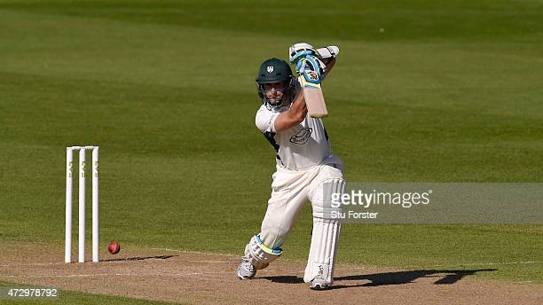 Worcestershire batsman Daryl Mitchell in action during day three of the LV County Championship Divison One match between Warwickshire and...