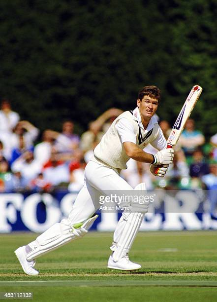 Worcestershire batsman Graeme Hick in action during a County Championship match at New Road in June 1989 in Worcester England