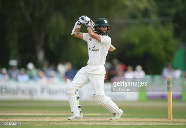 Worcestershire batsman Moeen Ali hits out during Day two of the Specsavers County Championship Division One match between Worcestershire and Somerset...