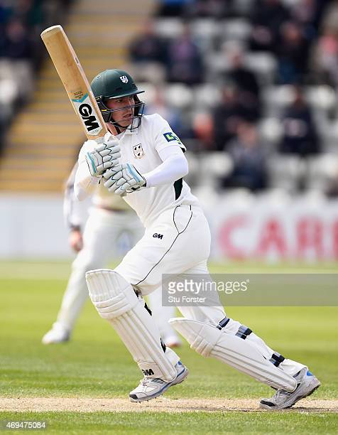 Worcestershire batsman Tom Fell picks up some runs during day one of the LV County Championship Division One match between Worcestershire and...