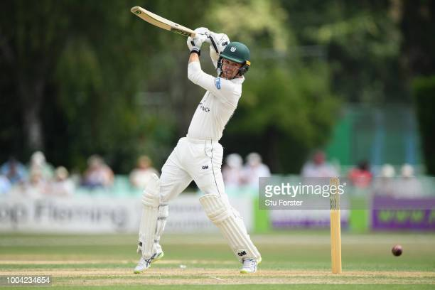 Worcestershire batsman Travis Head hits out during Day two of the Specsavers County Championship Division One match between Worcestershire and...